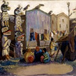 Emily Carr (1871-1945), Indian Village: Alert Bay, c. 1912, oil on canvas