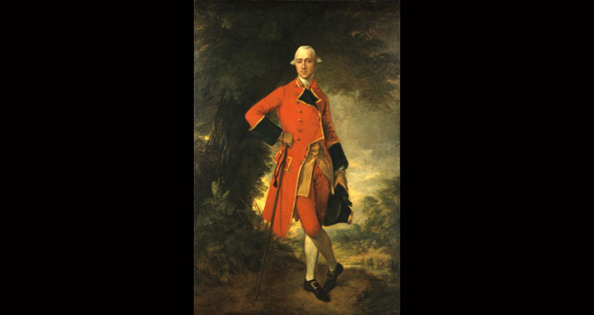Text: Thomas Gainsborough (British, 1727-1788), Lieutenant Colonel Edmund Nugent, 1764, oil on canvas