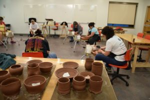 THROWING CLAY ON THE POTTERY WHEEL with Angie King @ Mobile Museum of Art