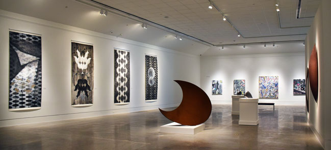 Text: Houston Artists: Gestural and Geometric Abstraction on view through August 5, 2018