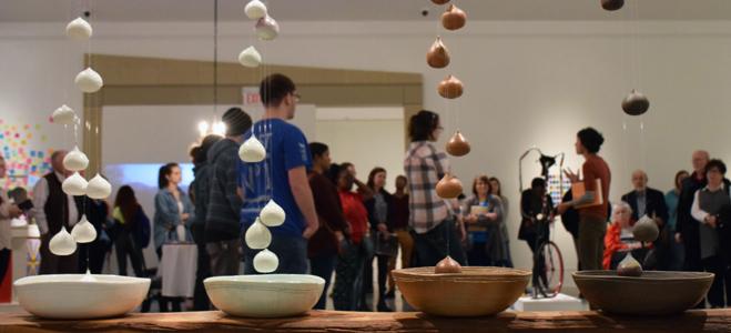 Text: Susie Bowman's interpretation of Geta Bratescu's do it instruction, 2018, ceramics, bench — do it exhibition now on view