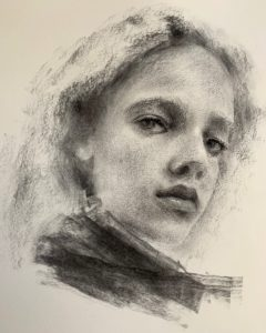 Charcoal Portrait Drawing with Victoria Udovikina @ Mobile Museum of Art