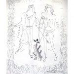 Georges Braque (French, 1882-1963), Eurybia et Eros, c. 1932, Etching (ed. Of 350), Pigment print