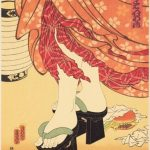 """Masami Teraoka (Japanese-American, b. 1936), """"McDonald's Hamburgers Invading Japan"""" 1982, silkscreen"""